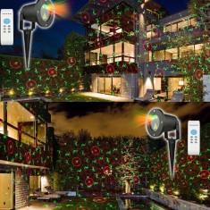 Laser Proiector Exterior Craciun Cu Puncte Mobile Instalatie jocuri de lumini - Instalatie electrica Craciun