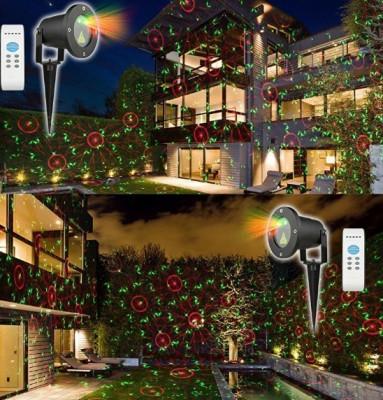 Laser Proiector Exterior Craciun Cu Puncte Mobile  Instalatie jocuri de lumini foto