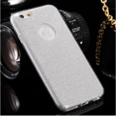Husa Glitter Case Apple iPhone 6G / 6S SILVER - Sticker Telefon