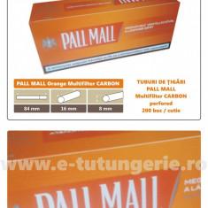 1.000 tuburi de tigari PALL MALL Multifiltru Orange pentru injectat tutun - Foite tigari