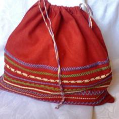 TRAISTUTA CUSUTA MANUAL. - Geanta handmade