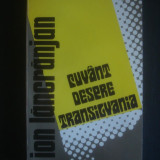 ION LANCRANJAN - CUVANT DESPRE TRANSILVANIA - Istorie