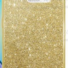 Husa Samsung Galaxy S7 Edge TPU Glitter Gold - Husa Telefon Samsung, Auriu, Gel TPU, Fara snur, Carcasa