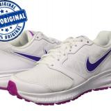 Adidasi dama Nike Downshifter 6 - adidasi originali - running - alergare, Culoare: Alb, Marime: 38.5, Textil