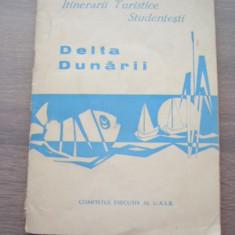 MSHAR - HARTA TURISTICA - DELTA DUNARII - 1967 - PIESA DE COLECTIE