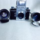 Vand aparat foto EXA cu 2 obiective Carl Zeiss - Aparat de Colectie