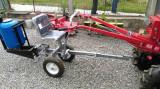 Scaun carut tapitat cu roti si adaptor pentru utilaje, pentru motocultor