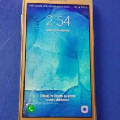 Samsung Galaxy J5 Gold Dual SIM + folie sticla + husa silocon CADOU - Telefon Samsung, Auriu, 8GB, Neblocat