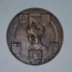 MEDALIE ANIVERSAREA REALIPREI DOBROGEI ( 1878-1928 ) Regele Ferdinand si Mihai