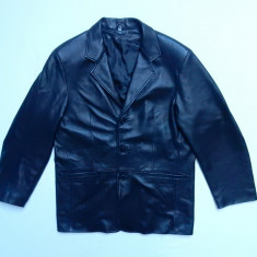 Geaca piele naturala E. P. Vera Pelle Made in Italy; marime 58, vezi dim; ca noua - Geaca barbati, Culoare: Din imagine