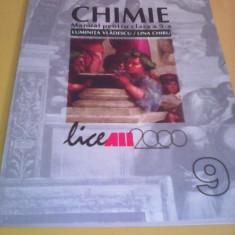 CHIMIE C 1 MANUAL CLASA 9 LUMINITA VLADESCU/LINA CHIRU - Manual scolar Altele