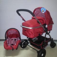 Carucior Baby Care 3 in 1 nou in cutie sigilat(cod YK 18-19) - Carucior copii 3 in 1 Baby Care, Rosu