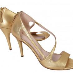 Sandale Nine West - Sandale dama Nine West, Culoare: Auriu, Marime: 39.5