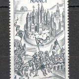 Franta.1977 500 ani batalia de la Nancy  SF.578.4, Nestampilat