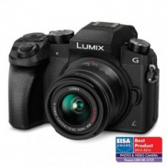 Panasonic Lumix DMC-G7 negru kit 14-42mm f/3.5-5.6 II MEGA OIS - Aparat Foto Mirrorless Panasonic, Kit (cu obiectiv), 16 Mpx