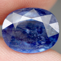 5.86 CT NATURAL! 8 X 12 mm. BLUE MADAGASCAR SAPPHIRE OVAL/safir natural