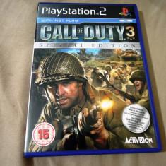 Joc Call of Duty 3 Special Edition, PS2, original, alte sute de jocuri! - Jocuri PS2 Activision, Shooting, 16+, Single player