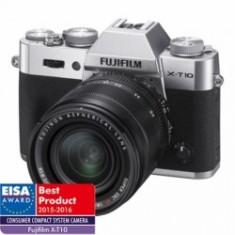 Fujifilm X-T10 argintiu kit Fujinon XF 18-55mm f/2.8-4 R LM OIS negru - Aparat Foto Mirrorless Fujifilm, Kit (cu obiectiv), 16 Mpx