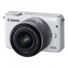 Canon EOS M10 alb kit EF-M 15-45mm f/3.5-6.3 IS STM argintiu - Aparat Foto Mirrorless Canon, Kit (cu obiectiv)
