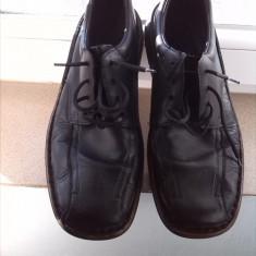 RIEKER pantofi barbati piele marime 43 - Pantof barbat Rieker, Culoare: Negru