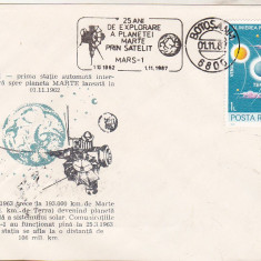 Bnk fil Plic ocazional Mars-1 - Botosani 1987, Romania de la 1950, Spatiu