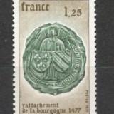 Franta.1977 500 ani reatasarea Burgundiei  SF.578.5, Nestampilat