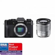Fujifilm X-T10 negru kit Fujinon XC 16-50mm f/3.5-5.6 OIS II argintiu - Aparat Foto Mirrorless Fujifilm, Kit (cu obiectiv), 16 Mpx