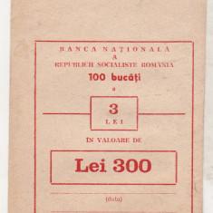 Bnk div - Plic BNR RSR - 100 bucati x 3 lei - rusu