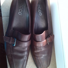 ECCO pantofi  dama piele maro  marime 40, Cu talpa joasa