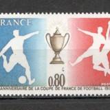 Franta.1977 60 ani Cupa Frantei la fotbal  SF.578.1, Nestampilat