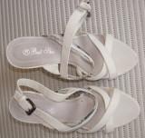 Pantofi dama originali BEST SHOES,mar.38,in cutie, Alb, Piele sintetica