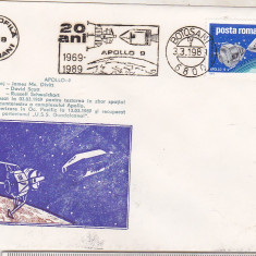 Bnk fil Plic ocazional Apollo-9 - Botosani 1989, Romania de la 1950, Spatiu