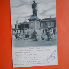 HOPCT 21 J CONSTANTA STATUIA OVIDIU IN ANUL 1902/RARA-CLASICA RARA-CT-CIRCULATA - Carte Postala Dobrogea pana la 1904, Printata