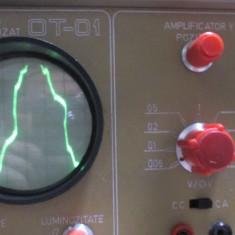 Osciloscop romanesc OT-01 rar vechi nu e pe lampi anii 70 didactica pt radio tv