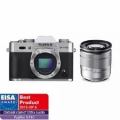 Fujifilm X-T10 argintiu kit Fujinon XC 16-50mm f/3.5-5.6 OIS II argintiu - Aparat Foto Mirrorless Fujifilm, Kit (cu obiectiv), 16 Mpx