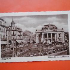 HOPCT 21 AX ORADEA PIATA SI TEATRUL -JUD BIHOR -CIRCULATA - Carte Postala Crisana 1904-1918, Printata