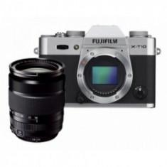 Fujifilm X-T10 + XF 18-135 Silver - Aparat Foto Mirrorless Fujifilm, Kit (cu obiectiv), 16 Mpx