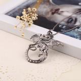 Pandantiv Colier Lantisor Medalion Game of Thrones Targaryen Dragon - Pandantiv fashion