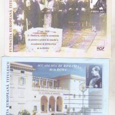 Bnk fil Lot 2 intreguri postale necirculate - Accademia di Romania - 2002, Dupa 1950