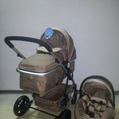 Carucior Baby Care 3 in 1 nou in cutie sigilat(cod YK 18-19) - Carucior copii 3 in 1 Baby Care, Crem