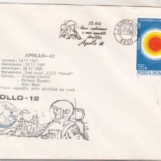 Bnk fil Plic ocazional Apollo-12 - Botosani 1989, Romania de la 1950, Spatiu