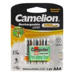 Camelion Ni-MH 1100mAh - acumulatori R3 (AAA) 4 buc - Baterie Aparat foto Camelion, Tip AAA (R3)