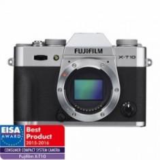 Fujifilm X-T10 body - argintiu - Aparat Foto Mirrorless Fujifilm, Body (doar corp), 16 Mpx