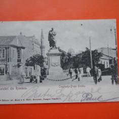 HOPCT 21 H CONSTANTA PIATA OVIDIU IN ANUL 1902/RARA-CLASICA -CT-CIRCULATA - Carte Postala Dobrogea pana la 1904, Printata