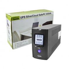 Resigilat : UPS SilverCloud SafePC 650VA cu ecran LCD si putere 390W