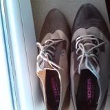 pantofi  dama piele maro bej marime 40