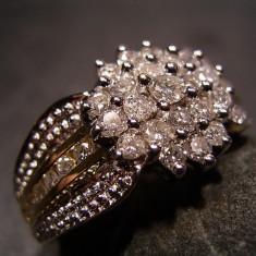 Inel Aur 14 Unisex Cu Diamante 0 80ct...reducere