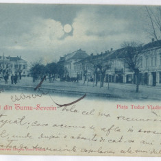 3686 - Litho, TURNU SEVERIN, Market - old postcard - used - 1900