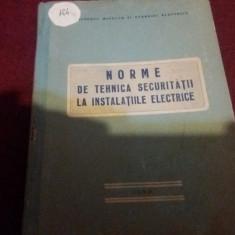 NORME DE TEHNICA SECURITATII LA INSTALATIILE ELECTRICE 1961