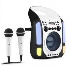 Auna Kara Illumina Karaoke mobil CD MP3 USB LED 2 x microfoane negru - Echipament karaoke